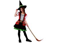 95520 - Šaty na karneval - čarodějka, 120-130 cm