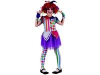 95528 - Šaty na karneval - šašek dívka, 120-130 cm