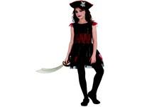 95531 - Šaty na karneval - pirátka, 120-130 cm