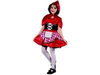 95556 - Šaty na karneval - Červená karkulka, 130-140 cm