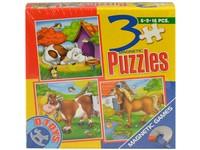 95716 - Puzzle - zvířátka domácí 3 v 1