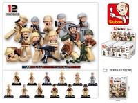 95763 - Kostky - vojáčci 60 ks