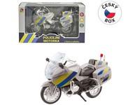 95807 - Motorka policejní kovová, 18 cm