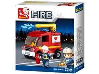 96786 - Kostky - hasičské auto 76 ks