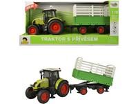 98530 - Traktor s vlečkou na setrvačník, 40cm, zvuk, světlo