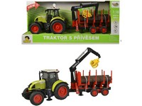 98531 - Traktor s vlečkou na setrvačník, 38cm