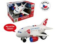 98535 - Letadlo ČSA s hlášením kapitána a letušky, na setrvačník
