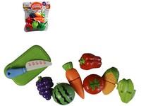 99537 - Souprava zelenina 9 ks, prkénko 15cm