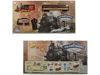 99558 - Vlaková souprava na baterie,ovládání, pára, zvuk, světlo, průměr trati 103cm, lokomotiva 17cm