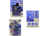 99625 - Mikroskop, ampulky a sklíčka, 25cm, přiblížení 100x,200x, 450x,