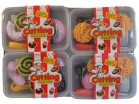 00097 - Cukrovinky 10 ks v boxu, balení 4 boxy, spojování na suchý zip, 5cm