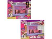 00516 - Ložnice pro panenky, s příslušenstvím, 23x28x5cm