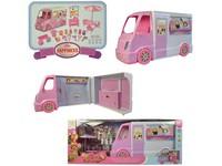 00554 - Pojízdné auto se zmrzlinou, 29 ks příslušenství, 24x62cm