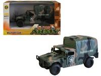 00590 - Auto vojenské na setrvačník, 13cm