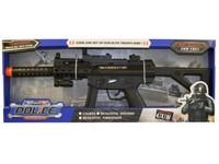00755 - Pistole na baterie, realistický zvuk, vibrace, světlo, 55cm
