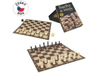 00906 - Šachy-Dáma, 34x34cm, figurka až 5,5cm