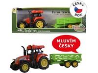 00922 - Traktor s přívěsem CZ IC, světlo zvuk, na setrvačník, 33cm