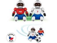 00925 - Robofotbal na dálkové ovládní, 2 ks + 2 branky, 36x24cm