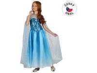 00981 - Šaty na karneval - sněhová královna,  120- 130 cm