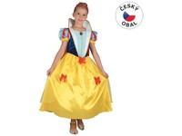 00982 - Šaty na karneval - sněhurka,  120- 130 cm