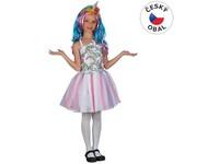 00992 - Šaty na karneval - jednorožec, 120- 130 cm