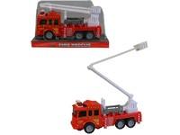 01498 - Auto hasičské na setrvačník, 17cm