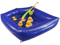 01613 - Hra kačenky, průměr nafukovacího bazénku 51cm, kačenky 6-8cm
