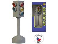 01785 - Semafor na baterie se světlem a zvukem, 12cm