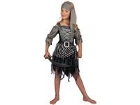 01797 - Šaty na karneval - pirátská dívka, 130-140 cm