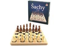 02120 - Dřevěné šachy 21x21cm