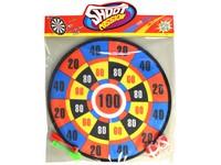 02156 - Terč se šipkami a míčky, 36x46cm