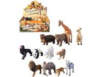 02401 - Zvířátka safari, 12 ks v boxu, 17cm