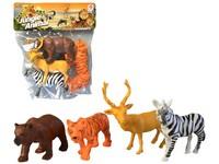 02404 - Zvířátka safari, 4 ks, 13cm
