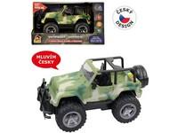 03226 - Jeep vojenský, na setrvačník, s reálným hlasem posádky
