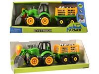 03416 - Traktor s vlečkou, na šroubování, 32cm