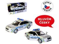 03685 - Auto policejní s českým hlasem, na setrvačník, 24cm
