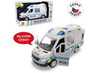 03794 - Auto policejní dodávka, na setrvačník s reálným hlasem posádky, 22cm