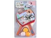 06260 - Set pimpongová pálka 2ks, 3 bílé míčky