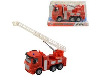 06590 - Auto hasičské, na setrvačník, se světlem a zvukem, 16cm
