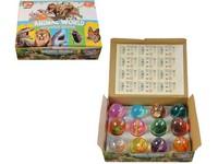 06982 - Sliz se safari zvířátkem, ve vajíčku, 12ks v boxu, 6 cm