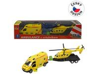 07214 - Sada ambulance + vrtulník, se světlem a zvukem