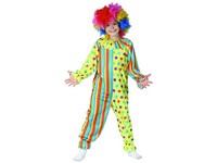 09181 - Šaty na karneval - klaun, 120 - 130  cm