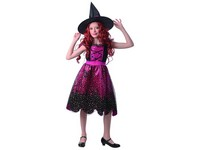 09192 - Šaty na karneval - čarodějnice, 110 - 120 cm