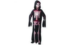 09233 - Šaty na karneval - kostra,  130 - 140 cm