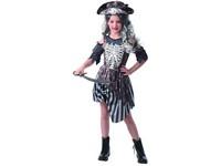 09267 - Šaty na karneval -  zombie pirátka, 110 - 120 cm