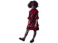 09290 - Šaty na karneval -  strašidelný klaun,  130 - 140  cm