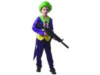09312 - Šaty na karneval - šílený klaun,  110 - 120  cm