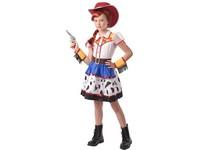 09406 - Šaty na karneval - kovbojská dívka, 120 cm - 130 cm