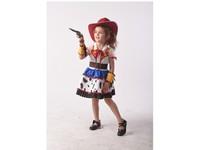 09758 - Šaty na karneval - kovbojská dívka, 92 - 104 cm