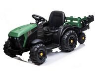 08511 - Dětské elektrický traktor s přívěsem, 12V, dva motory, MP3.